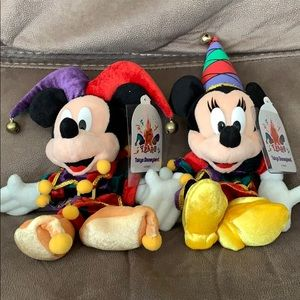 Collectible Mickey and Minnie Mouse Jesters
